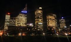 The sparkle of light (fotoeins) Tags: travel building skyline architecture night canon eos lights neon sydney kitlens australia nsw newsouthwales cbd domain xsi eos450d henrylee 450d canonefs1855mmf3556is fotoeins henrylflee fotoeinscom