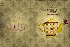 Contracapa e Capa do cardápio (hanisted) Tags: love coffee café tea amor teapot cappuccino bule