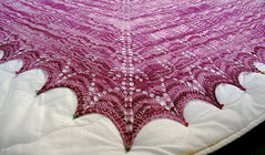 Shetland Triangle Shawl, blocking