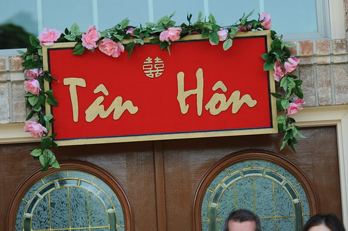 Vietnamese sign at Groom's residence