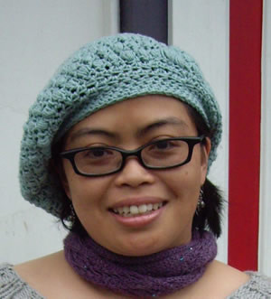 Crochet Beret with the Puffy Stitch