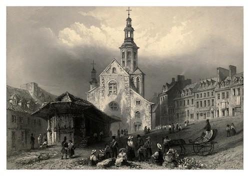 009 La plaza del mercado en Quebec 1842
