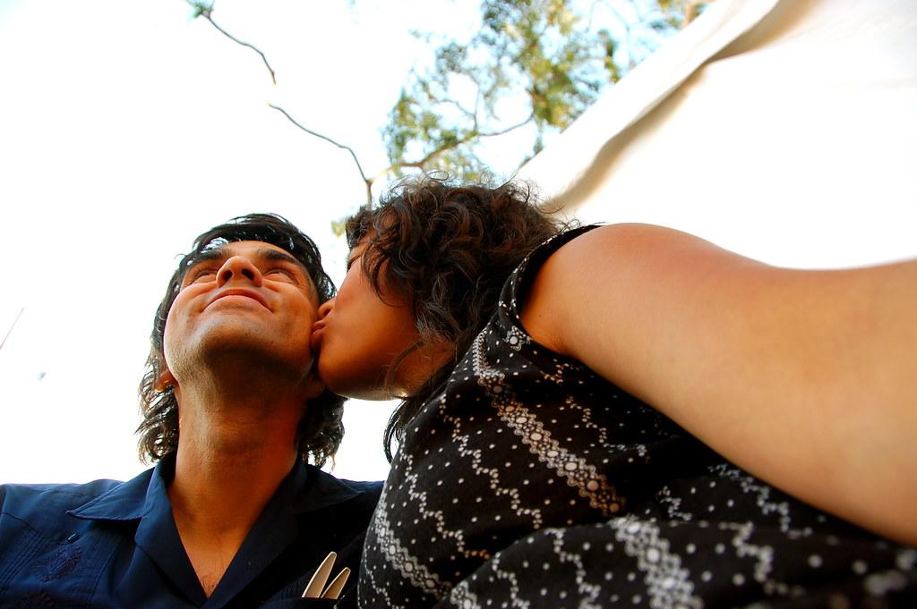 kiss his cheek