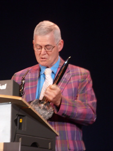 David G. Hartwell winning Hugo award