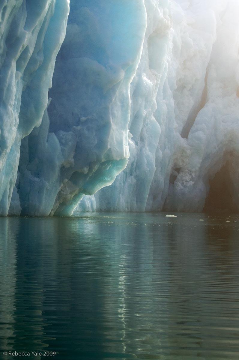 Monacobreen Glacier in the Fog, Svalbard