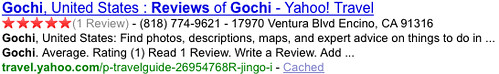 Yahoo! Search Monkey local listing