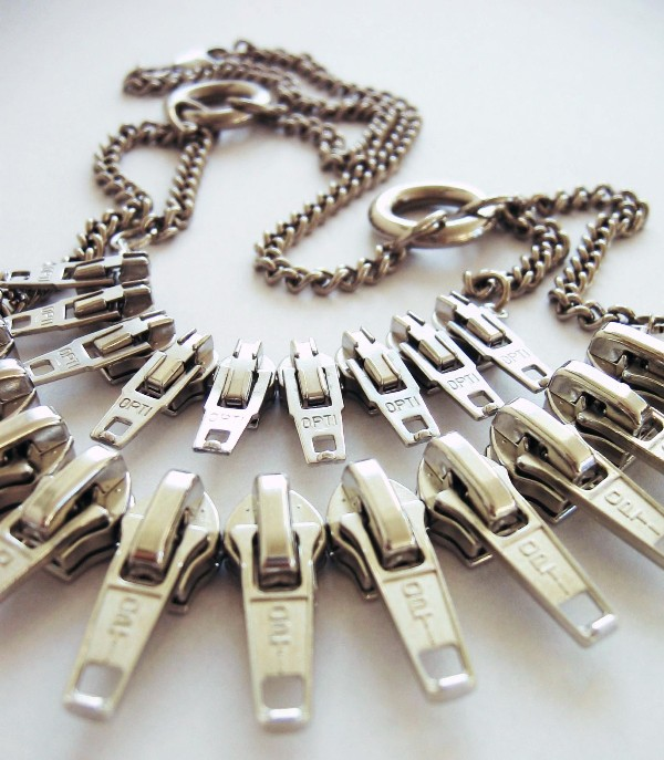 FashionSaboteur zipper pull necklace