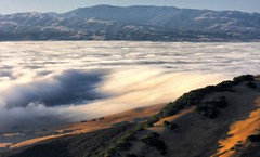 flowing (Marc Crumpler (Ilikethenight)) Tags: california morning usa fog clouds canon hiking trails hills bayarea eastbay livermore inspire contracostacounty losvaqueros ccwd canon70300isusm 40d theunforgettablepictures canon40d