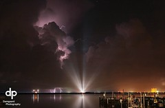 Scrubbed Shuttle Launch STS 128 (8-25-09) (Damgaard, (TheObsessivePhotographer.com)) Tags: reflection night nasa brightlights lightning kennedyspacecenter capecanaveral titusville discovery spaceshuttle indianriver brevardcounty spaceviewpark thechallengefactory sts128 scrubbedlaunch