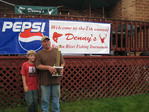 My dad won the fishing tournaments rough fish category (not Northern or Walleye). Nice trophy, huh?