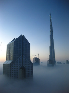 Dubai in Morning Fog 2
