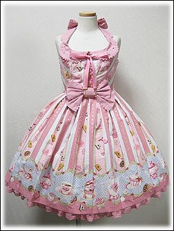 Angelic Pretty Wonder Party JSK (pink x sax) by you.