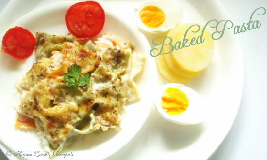 Baked Pasta with White Sauce