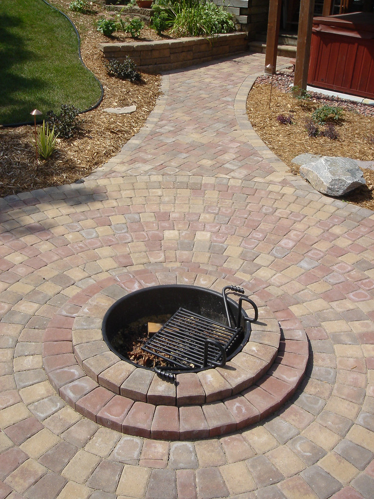 Firepit And Walkway (Patio Town) Tags: Minnesota Creek Landscapes Town Patio  Willow Villa