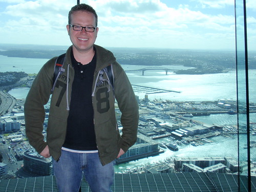 Jason at the top of Sky Tower