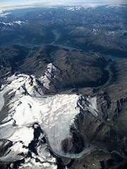 Glacier shaped like North America (oledoe) Tags: mountain alps flying map fromabove glacier kl565 0tagged set:name=200909kenya