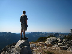 Cole atop the summit of Parker Peak, Selkirk Mountains, North Idaho.