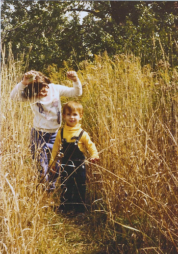Stephen and me in the tall grass