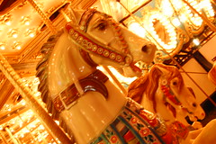 Carousel's horses (Christopher.B) Tags: nightphotography carnival availablelight carousel merrygoround d40 hobbyhorses schaghticokefair schaghticokefair2009
