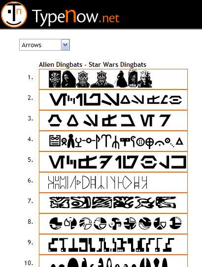 300여 가지의 딩벳 글꼴