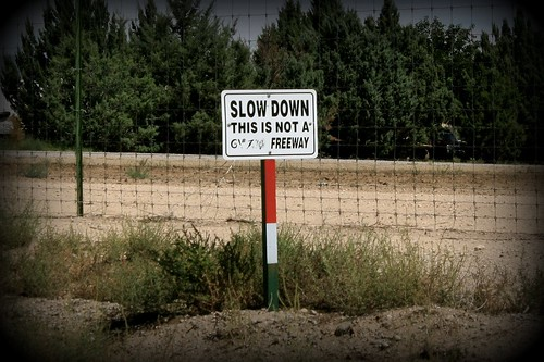 Slow Down... Please?