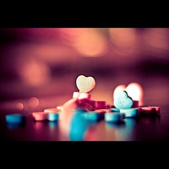 Kiss You... (Stephen.James) Tags: kiss candy heart you bokeh shaped grain lollie