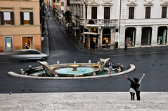 Tourists at Spanish Steps, Rome, Italy