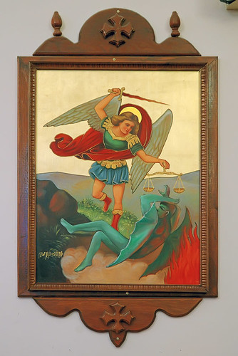 Saint Mary and Saint Abraam Coptic Orthodox Church, in Saint Louis County, Missouri, USA - Icon of Saint Michael the Archangel