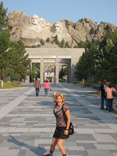 In front of Mount Rushmore