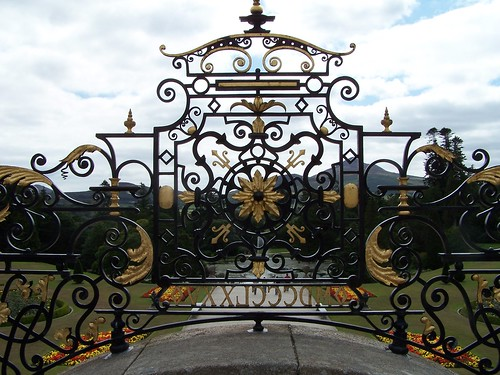 Powerscourt Garden, iron art