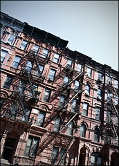 NYC - 19 ( CHRISTIAN ) Tags: nyc newyorkcity red usa eastvillage ny newyork facade rouge unitedstates angle manhattan bricks stairway metropolis escalier alphabetcity briques megapolis appartments mtropole tatsunis appartements mgapole