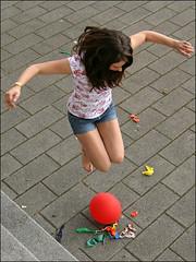 Balloons 5 (Hal Heaven) Tags: red feet balloons jumping toes legs polish jewellery crushing barefoot pedicure ballons smashing stomping femdom ballong popping luftballons springen barfuss squishing zertreten