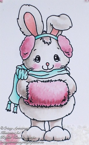 Winter bunny close