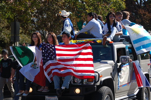 Latino float at Davis High School carnival