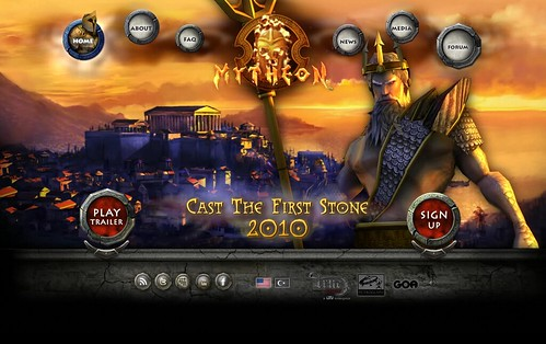 Mytheon teaser site home page