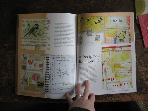 pages 2& 3 of 6 in the winter issue of artful blogging!