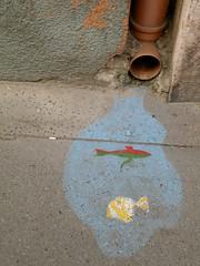 Dob utca witty pavement art (TransylvaniaGuide) Tags: city travel photography graffiti nikon hungary photographer pavement capital budapest duna magyar danube europeanunion buda pest magyarorszag dobutca fovaros lucymallows