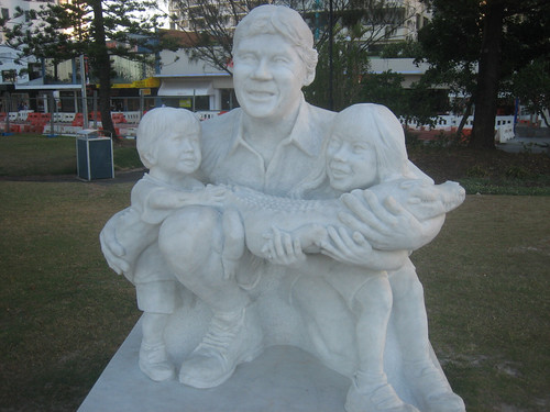 Memorial to Steve Irwin -- The Crocodile Hunter
