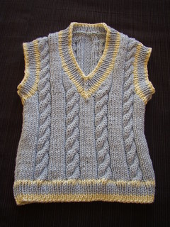 Ravelry Design A Cabled V Neck Sweater And Vest Tank
