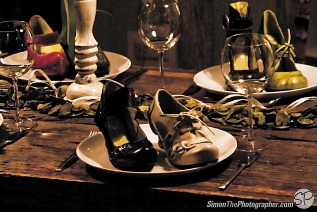Schuhe zum Essen?