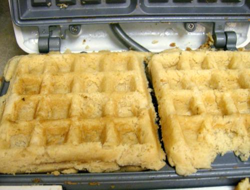 waffle cake experiment!