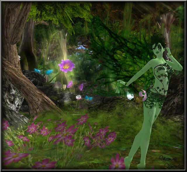 Green Fae in Elven Forest