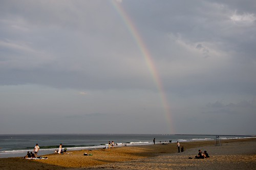 rainbow after beach cleanup