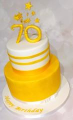 Gold Sparkle 70 Cake