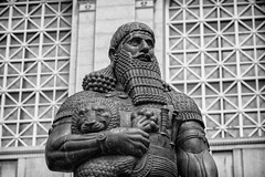 Ashurbanipal (justingreen19) Tags: ashshurbani ashurbanipal asianart asianartmuseum asianking asiansculpture assurbanipal assyria assyrian assyrianking california fredparhad kingofassyria outdoorsculpture sanfran sanfrancisco sanfranciscocityhall justingreenphotography justingreen19 officeprints printsforoffice printsforwalls sculpture