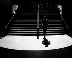 Unbalanced (Edocaprio) Tags: street streetphotography sydney blackandwhite blancoynero city urban monochrome shadows oneman light tube