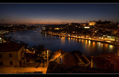 The river (Descended from Ding the Devil) Tags: portugal water night photoshop river raw porto single douro hdr lightroom cs3 sigma1020mm photomatix zerotime tontosexpandingheadband canon40d ilustrarportugal tamastarr