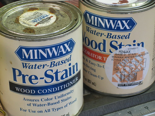 Minwax water-based pre-stain and