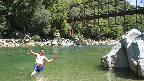 A refreshing swim in the Yuba River!