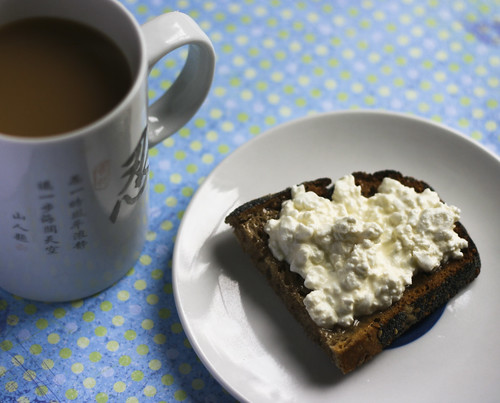 Cottage Cheese and Honey on Toast